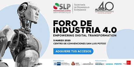 Foro Industria 4.0 Empowering Digital Transformation boletos