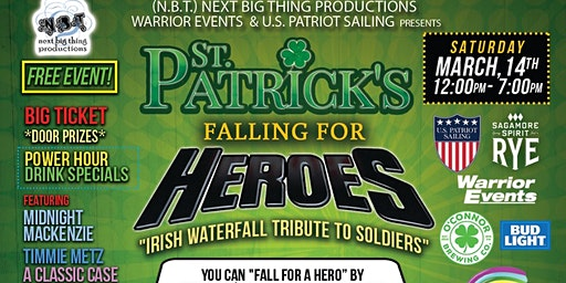 "St. Patrick's Falling For Heroes ""Irish Waterfall"""
