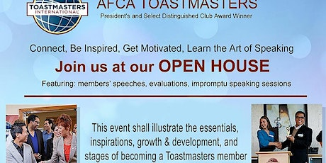 AFCA TOASTMASTERS CLUB - OPEN HOUSE tickets