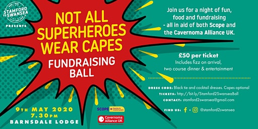 Stamford to Swansea - 'Not all Superheroes wear capes' Charity Ball