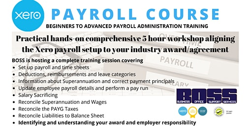 Xero Payroll Administration Course - Port Lincoln