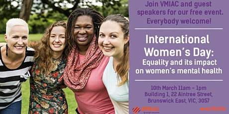 International Women's Day: Equality and its impact on women's mental health tickets