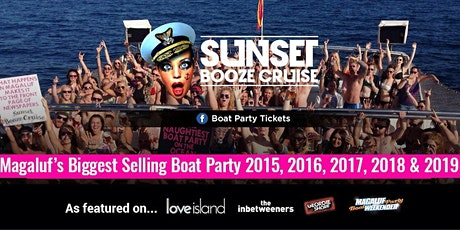 Sunset Booze Cruise - Boat Party Magaluf 2021 tickets