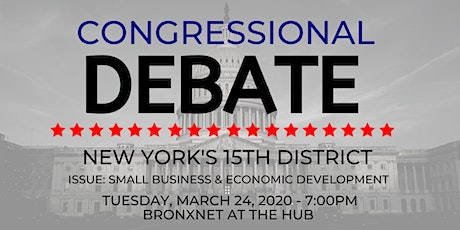 NYS 15th Congressional District Debate tickets