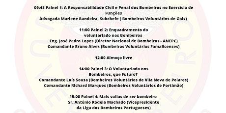 """1º Seminário Distrital """"O Voluntariado nos Bombeiros em Portugal"""" bilhetes"""