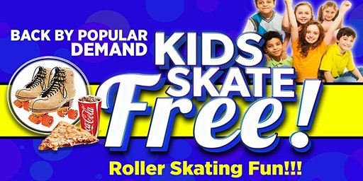 Kids Skate Free Saturday 2/29/20 at 12pm (with ticket)