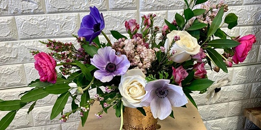 Sips & Stems-Anemone Spring Design