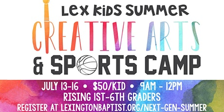 LexKids Summer Creative Arts and Sports Camp 2020 tickets