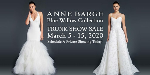 Anne Barge Blue Willow Bridal Trunk Show Sale