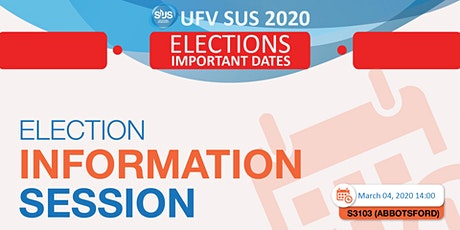 SUS ELECTIONS 2020 : INFORMATION SESSION tickets