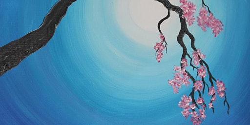 Create and sip - Cherry blossoms