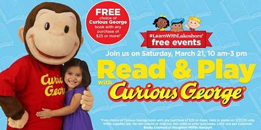 Lakeshore Special Event: Read & Play with Curious George (The Woodlands)