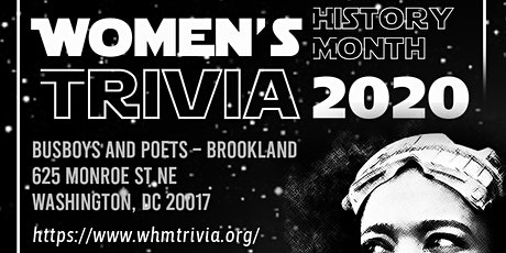 Women's History Month Trivia Night 2020 tickets