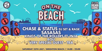 On The Beach - Brighton Poster