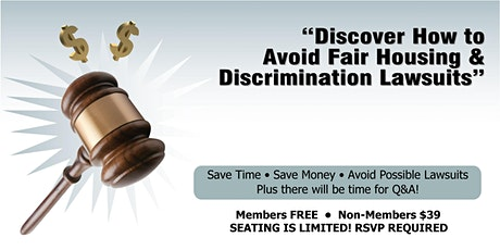 How to Avoid Fair Housing & Discrimination Lawsuits (OAK) tickets
