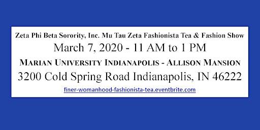 Finer Womanhood Fashionista Tea and Fashion Show at Allison Mansion