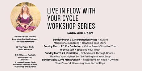 Live In Flow with Your Cycle Workshop Series tickets