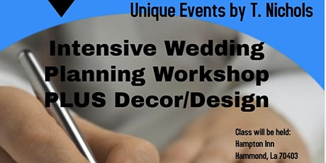 Intensive Wedding Planning Workshop tickets