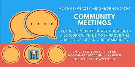 Veazey Residents Focus Group tickets