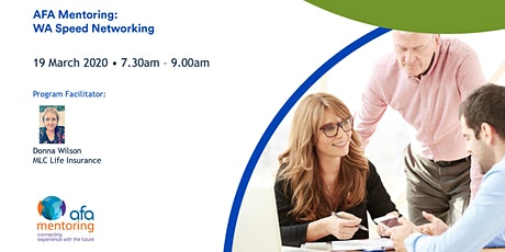 AFA Mentoring - WA Speed Networking tickets