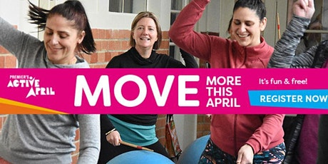 FREE EVENT! Cardio drumming  for Active April tickets