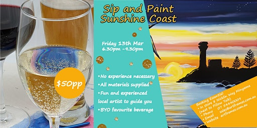 Sip and Paint Sunshine Coast