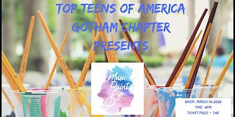 Top Teens of America Music, Paint & Sip tickets