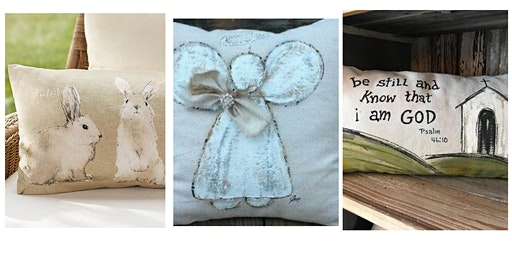 Spring Pillow Cover Painting