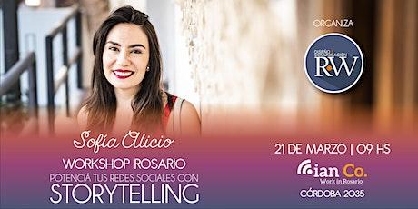 """Workshop Rosario│""""Potencia tus redes sociales con Storytelling"""" entradas"""