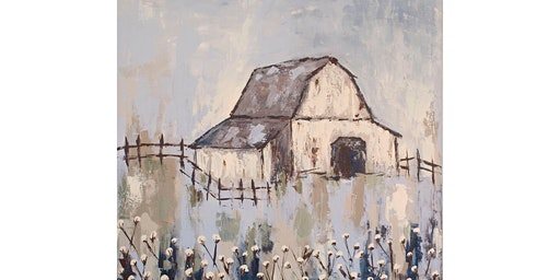 Textured Barn Painting