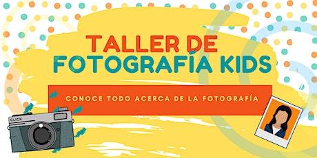 TALLER DE FOTOGRAFÍA  NIÑOS DE 8 A 12 tickets