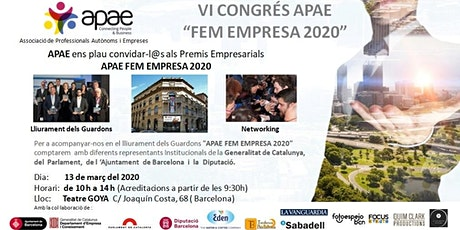 VI Congrés APAE FEM EMPRESA 2020 + Coffee Break Gratuït + NETWORKING. entradas