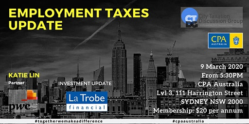 CTDG March 2020 - Employment Taxes Update