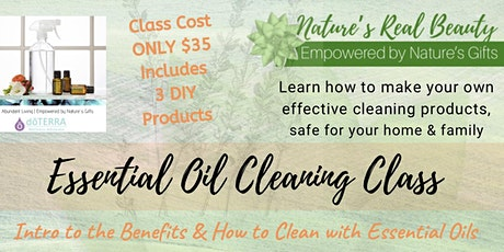 Essential Oil  Cleaning  Class tickets