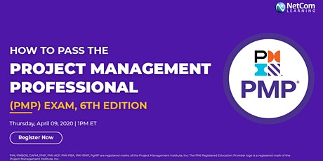 Webinar - How to Pass the Project Management Professional (PMP®) Exam tickets