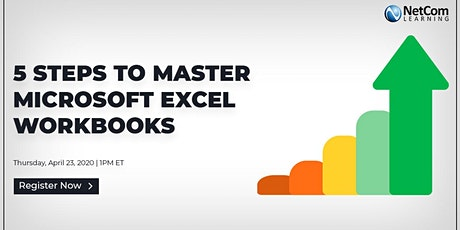 Webinar - 5 Steps to Master Microsoft Excel: Workbooks tickets
