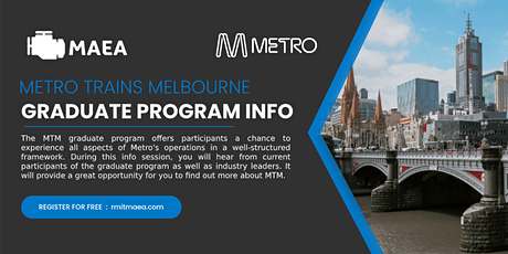 Metro Trains Melbourne - Graduate Program Info Session (City) tickets