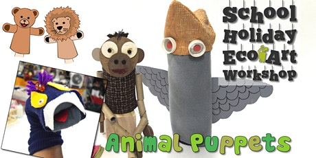 Upcycled Puppet Animals : Children's Eco Art Workshop (AM) tickets
