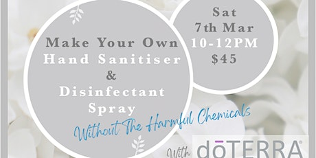 Make your own natural Hand Sanitiser & Disinfectant Spray tickets