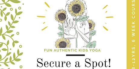 Tweens Yoga (8-12yrs) 6 Week Course tickets
