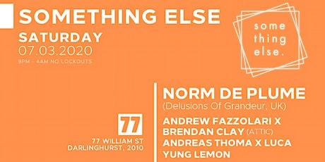 Southing Else - Norm De Plume (Delusions Of Grandeur, UK) tickets