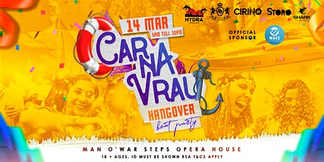 Carnavrau Hangover Boat Party tickets