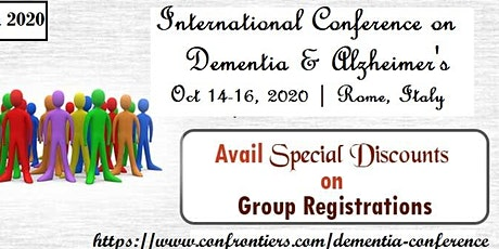INTERNATIONAL CONFERENCE ON DEMENTIA AND ALZHEIMER'S DISEASE tickets