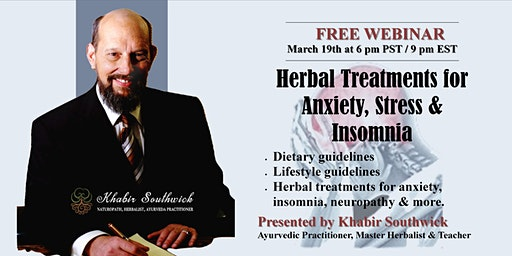 Webinar: Herbal Treatments for Anxiety, Insomnia and Stress