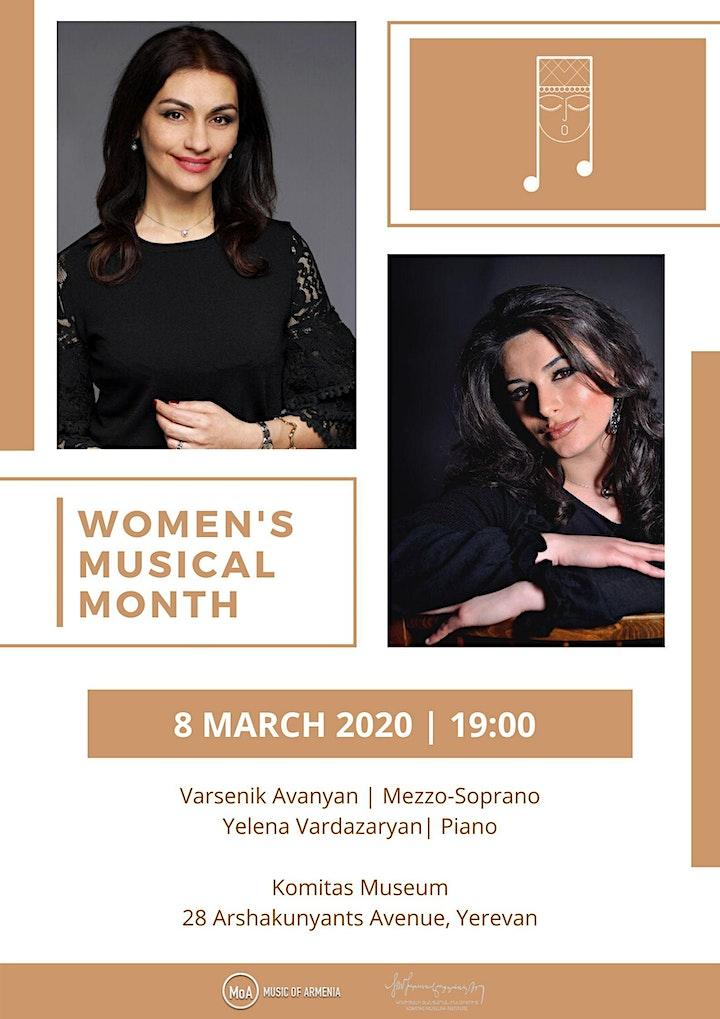 Opening Concert of 'Women's Musical Month 2020' - Varsenik Avanyan image