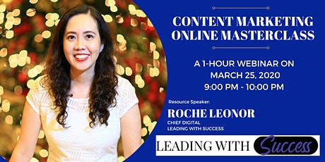 Content Marketing 1-Hour Webinar tickets