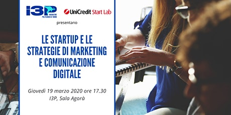 Le startup e le strategie di marketing e comunicazione digitale biglietti