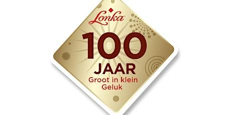 Lonka viert 100-jarig bestaan met onthulling Blind Wall muurschildering tickets