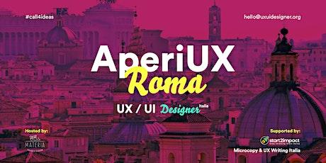 AperiUX @Roma - #callforideas20 biglietti