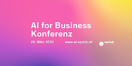 ai-zurich - AI for Business Konferenz 2020 Tickets